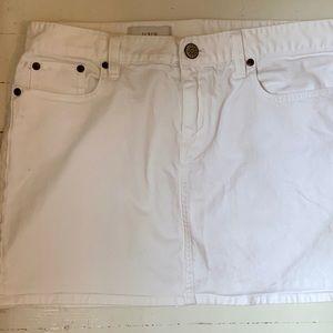 JCREW jean miniskirt